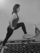 Standing foot on cair lunge bw-small