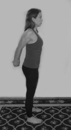 Standing shoulder and chest stretch bw-small